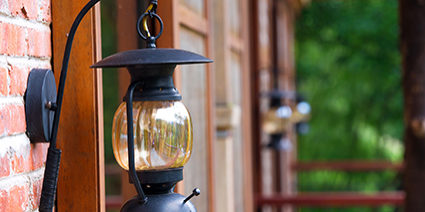 lantern outside the house